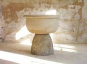 Katinka Bock - Guillaume Leblon. WET GROUND, , 2008. limestone, water. 39x80x80cm