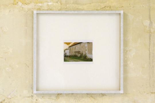 ECHELLE 01 (Poncé-sur-le-Loir), 2012, série de photographies des échelles de Poncé-sur-le-Loir.