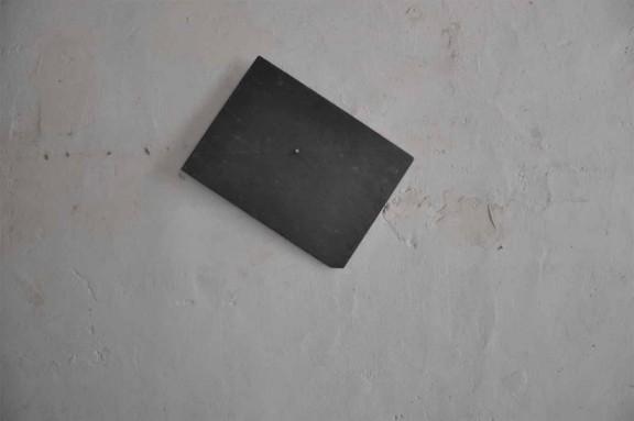 Katinka Bock. Kompass, 2012. Slate and nail. 36x36x2cm