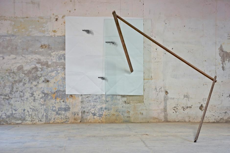 Vittorio Santoro. This Impact Leads Into..., February - July 2011 (Origami Sphinx) 2011. Courtoisie de l'artiste, la Galerie Jérôme Poggi, Paris et la Galerie Campagne Première, Berlin.