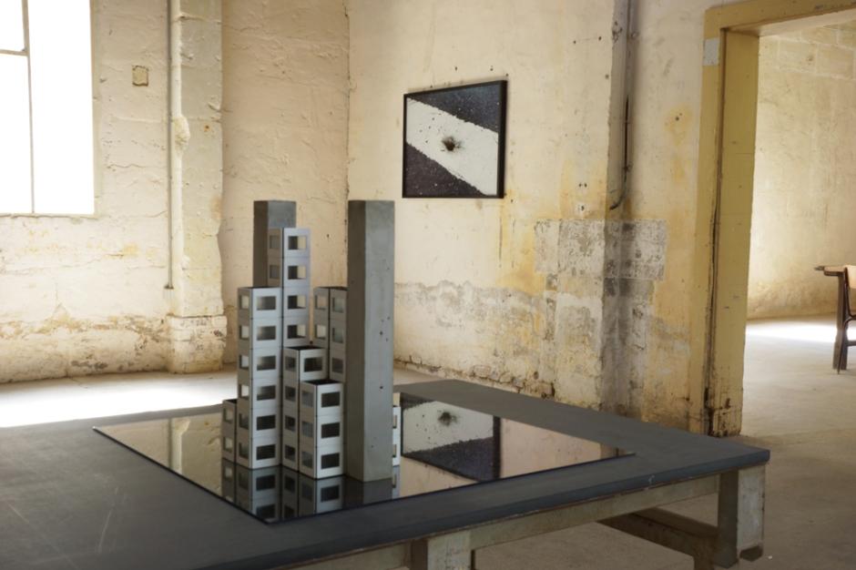 Bertrand Lamarche. Le Lac Noir. vue de l'exposition. Courtesy Galerie Jérôme Poggi, Paris.