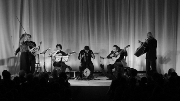 Deborah Nemtanu, Alexis Cardenas, Leonidas Rondon, Francisco Gonzales, Rafael Mejias, Nelson Gomez. Photo © James Porter